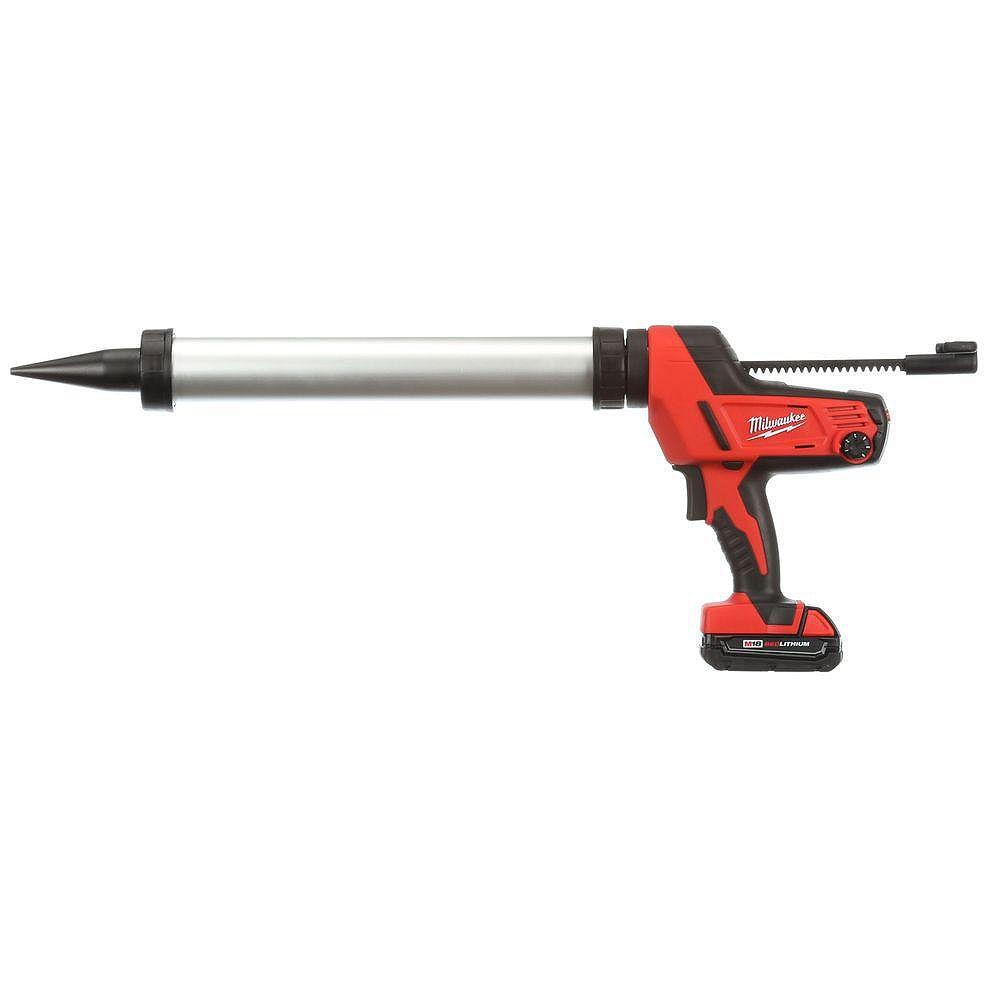 Milwaukee Tool Pistolet à calfeutrer et adhésif M18 sans fil de 20 oz à chariot en aluminium pour contenants de style saucisse