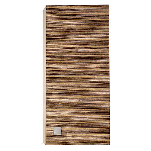 Knox 18 Inch Wall Cabinet in Zebra Wood Finish