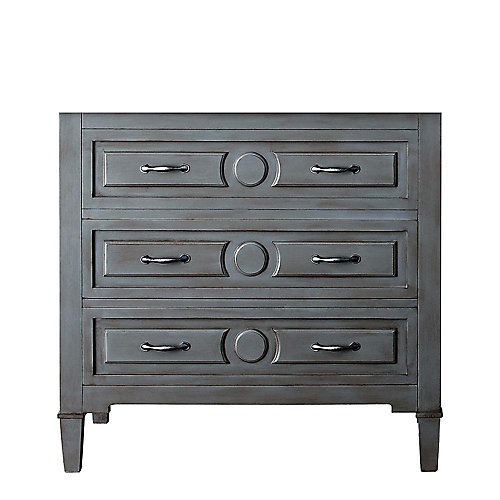 Kelly 36-Inch  Vanity Cabinet in Greyish Blue