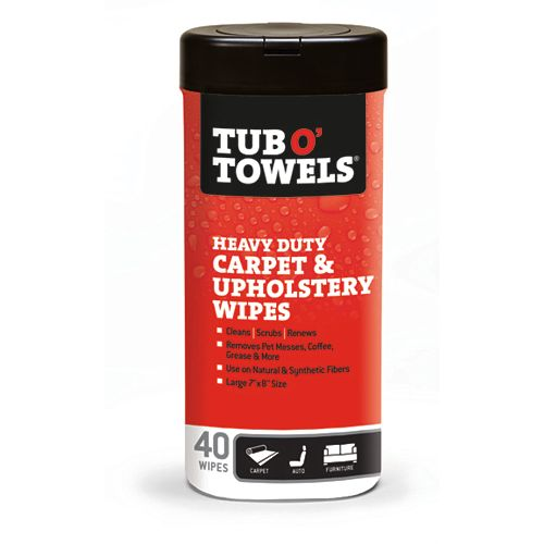 Tub O'Towels Carpet and Upholstery Cleaning Wipes