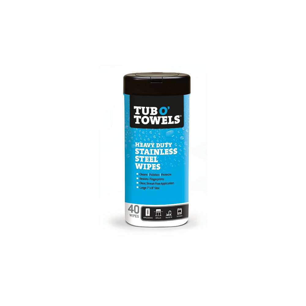 Tub O'Towels Stainless Steel Cleaning & Polishing Wipes (40-Count)