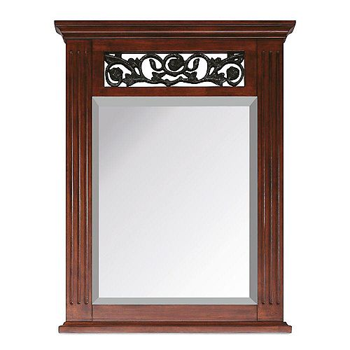 Napa Mirror - 24 Inch Dark Cherry
