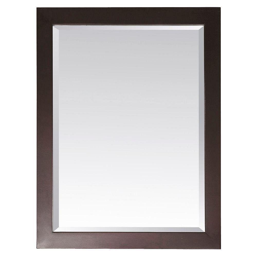 Avanity Miroir Modero de 28 x 32po au fini espresso