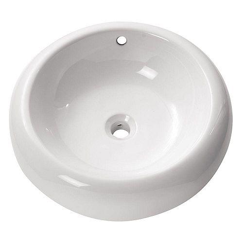 19.70-inch x 6.30-inch x 19.70-inch Circular Bathroom Sink