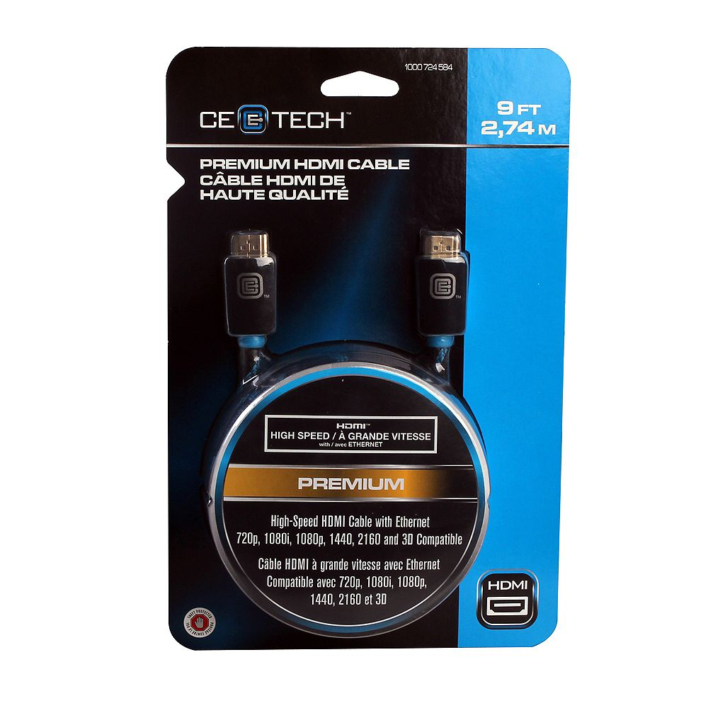 Commercial Electric 9 Feet Premium HDMI Cable