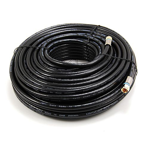 Commercial Electric 100 ft. RG6 Coaxial Cable in Black