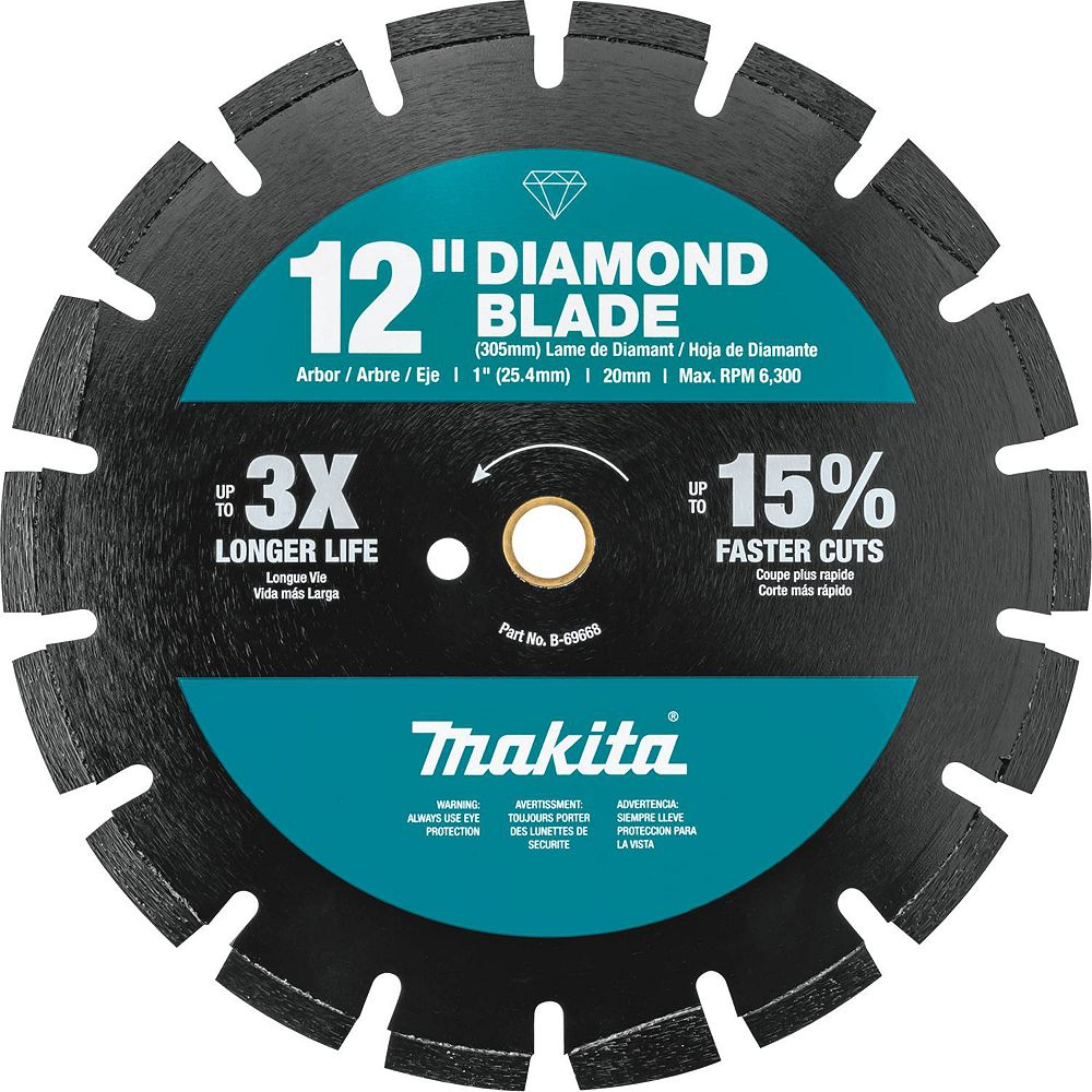 MAKITA 12-inch Segmented Dual Purpose Diamond Blade