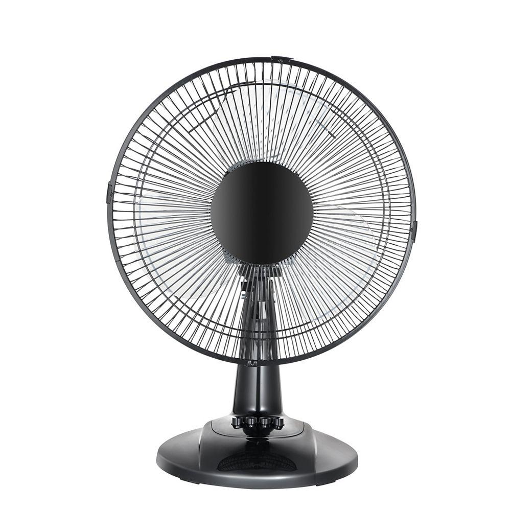 HDX 12-inch Table Fan in White