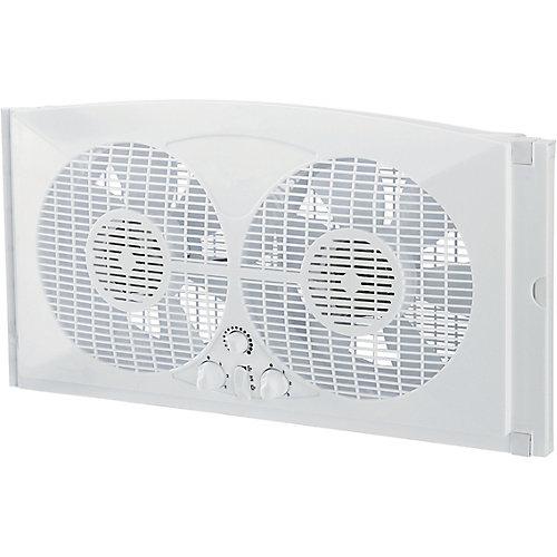 Ventilateur double pour fenetre 22,8 cm