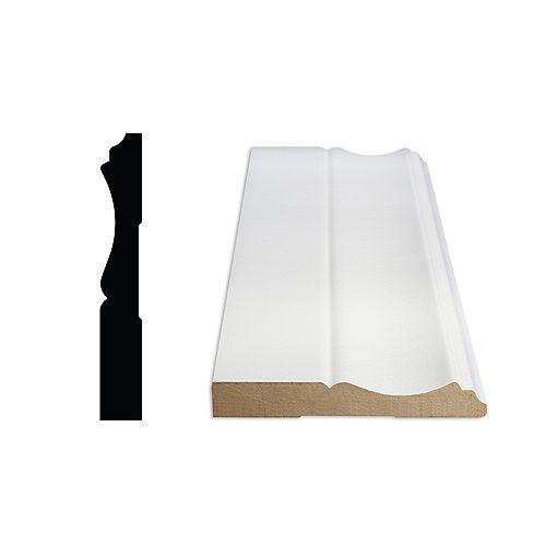 1/2-inch x 3 1/4-inch Colonial Primed Fibreboard Baseboard Moulding