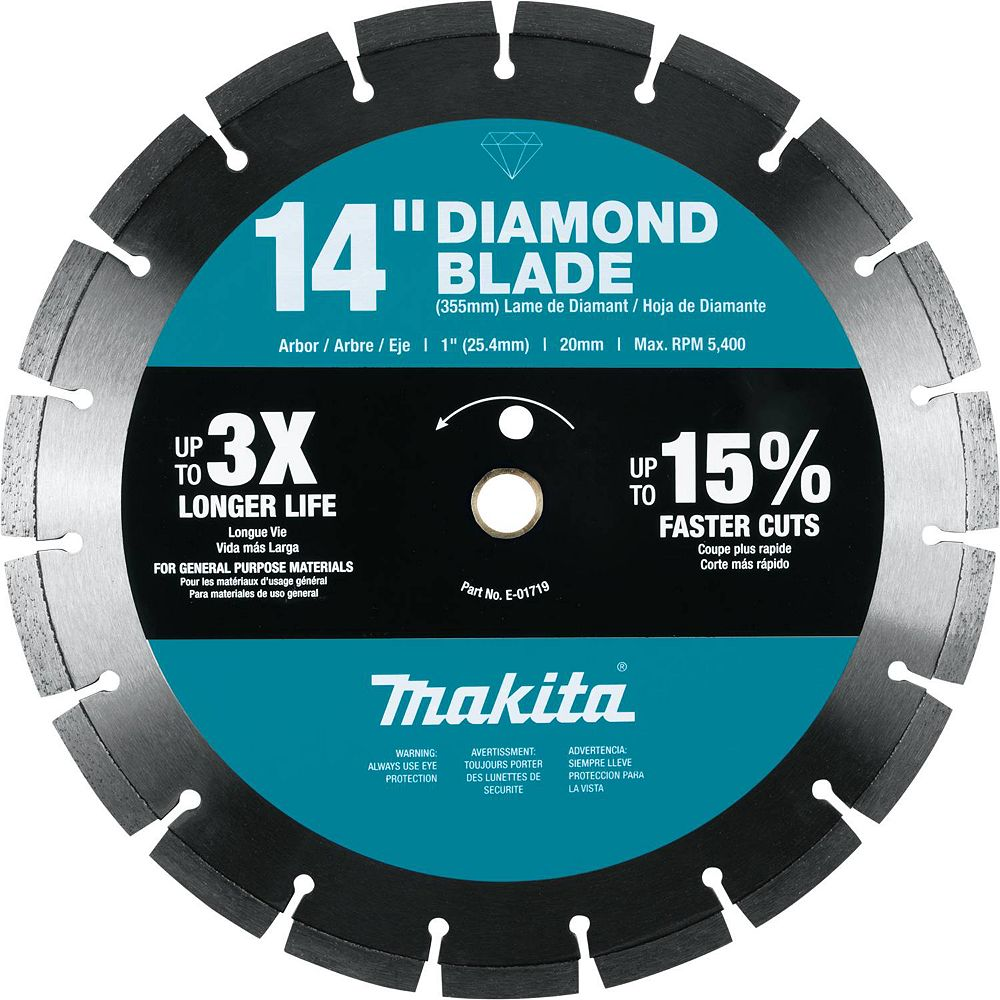 MAKITA 14-inch Segmented Rim General Purpose Diamond Blade
