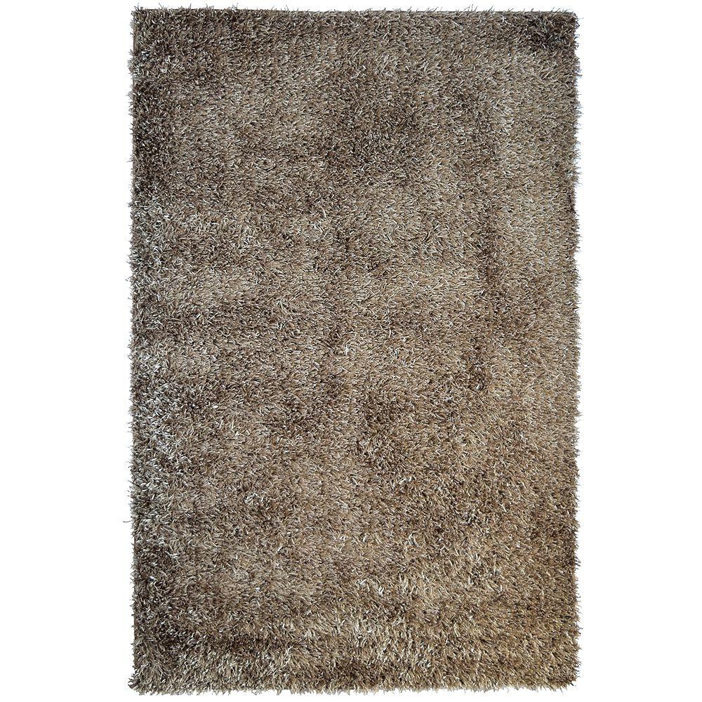 Lanart Rug Carpette d'intérieur, 3 pi x 4 pi 6 po, rectangulaire, brun City Sheen