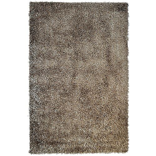 Lanart Rug City Sheen Brown 3 ft. x 4 ft. 6-inch Rectangular Area Rug