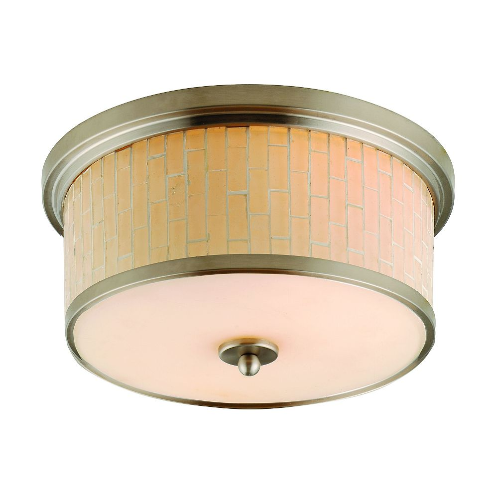 Catalina Lighting Metropolis Collection 2 Light Mosaic Flushmount