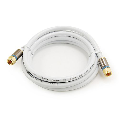 6 ft. RG-6 Coaxial Cable - White