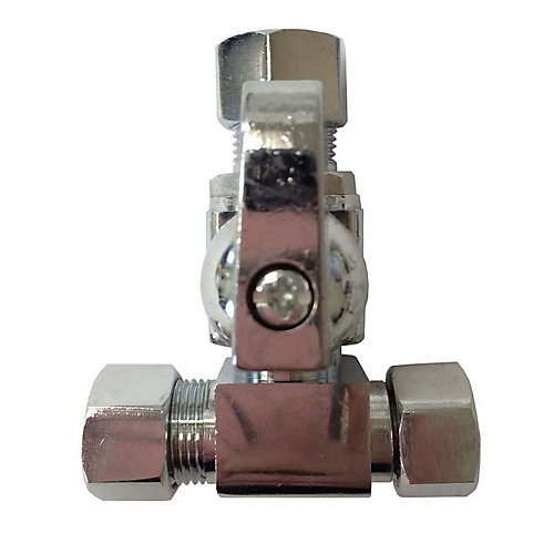 Compression Tee Valve 3/8 Inch x 3/8 Inch x 3/8 Inch