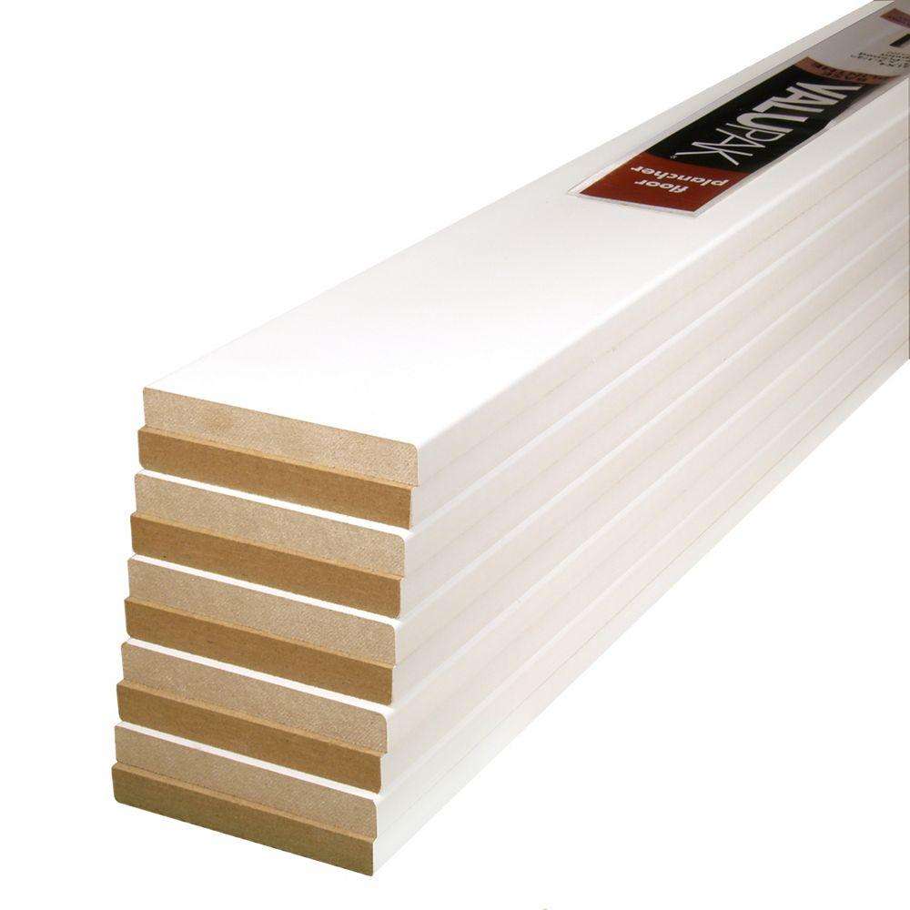 Alexandria Moulding (10-Pack) 1/2-inch x 3 1/2-inch x 96-inch Modern MDF Primed Fibreboard Baseboard Moulding ValuPAK