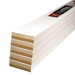 (10-Pack) Plinthes modernes en panneaux de fibres de bois apprêtés MDF de 1/2 pouce x 3 1/2 pouce x 96 pouces ValuPAK