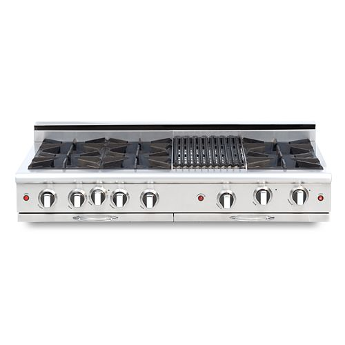 Culinarian Series: 48 Inch 6 Open Top Burners Range Top With Broil Burner NG
