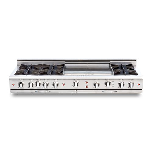 """Culinarian Series: 60"""" 6 Open Top Burners Range Top with 24"""" Thermo Griddle NG"""
