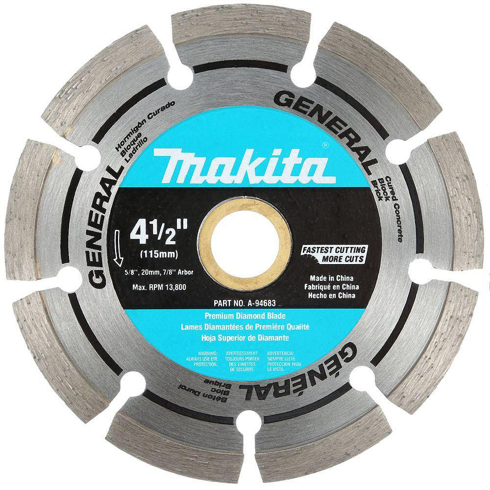 MAKITA 4 1/2-inch Segmented Rim General Purpose Diamond Blade