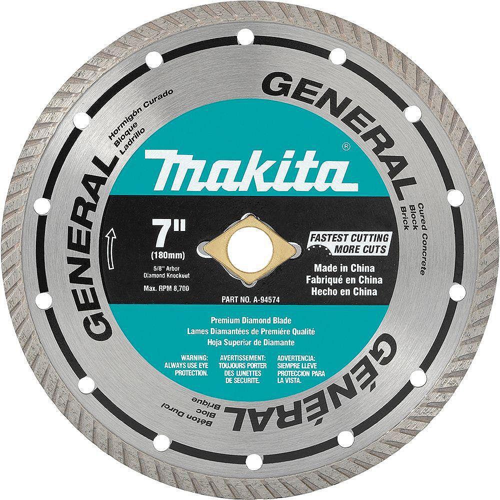 MAKITA 7-inch Turbo General Purpose Diamond Blade