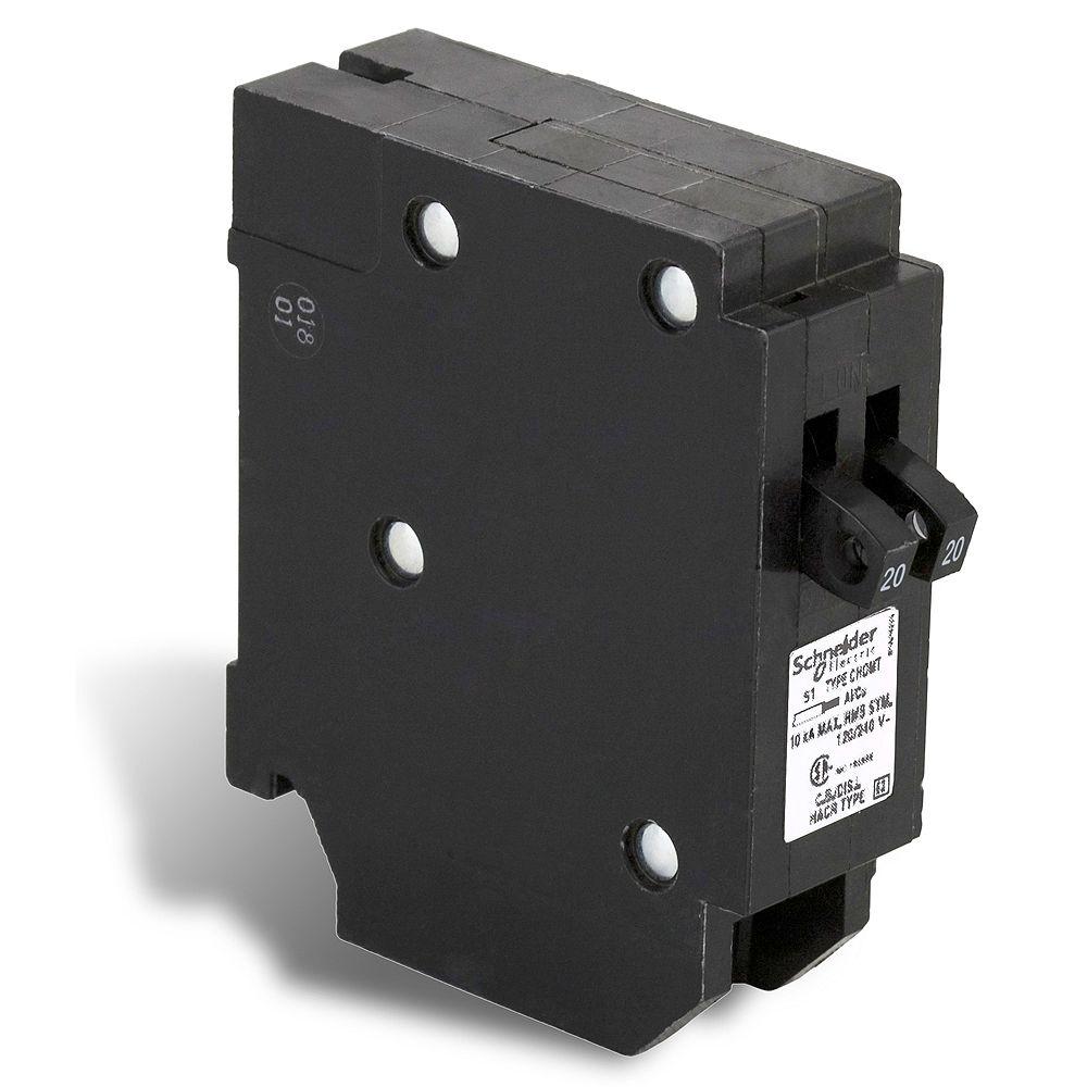 Schneider Electric Homeline Disjoncteurs en tandem Homeline de 20A-20A unipolaire