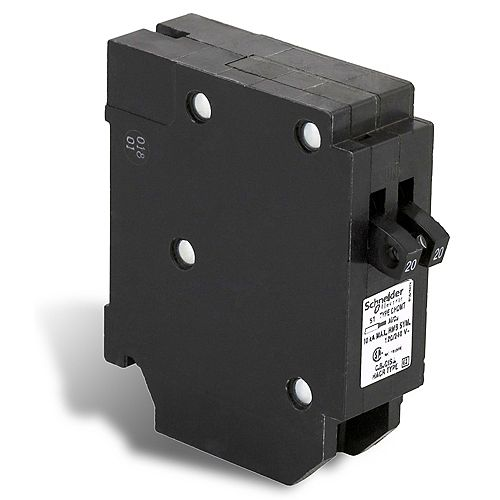 Disjoncteurs en tandem Homeline de 20A-20A unipolaire