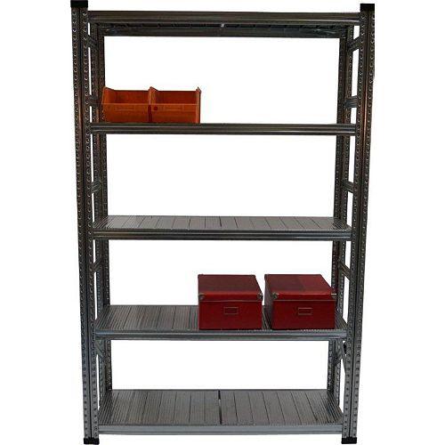 Metalsistem Heavy Duty 5-Shelf Basic Standalone Shelving System