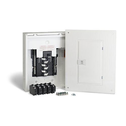 Schneider Electric Homeline Centre de distribution Homeline de 100A, avec 24 espaces, préfabriqué pour l'utilisateur et avec disjoncteurs