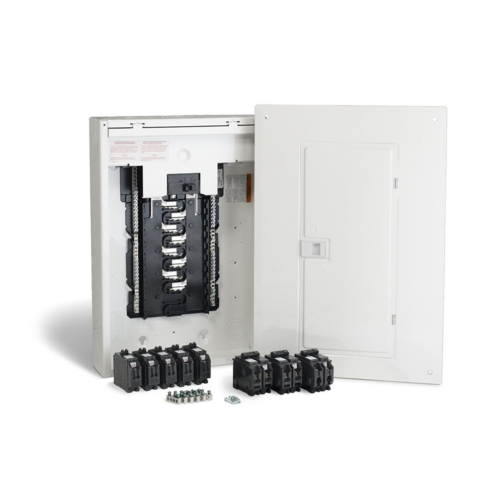 Schneider Electric Homeline 100 Amp, 32 Circuits Maximum Homeline Retrofit Panel Package with Breakers