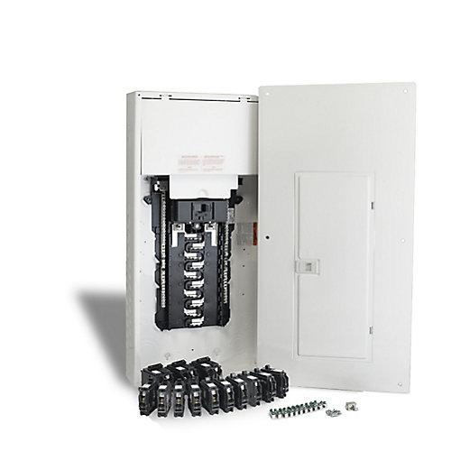 200 Amp, 40 Circuits Maximum Homeline Retrofit Panel Package with Breakers