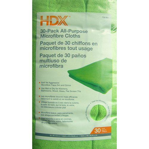 16-inch x 12-inch All-Purpose Microfiber Cloth (30-Pack)