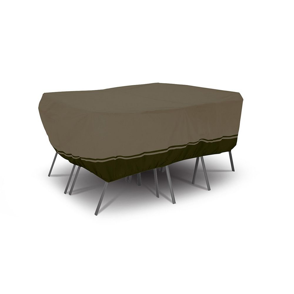Villa Housse pour ensemble de table rectangulaire/ovale et chaises de patio - moyenne