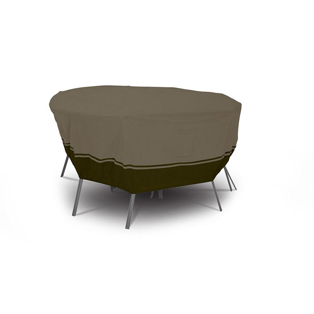 Villa Housse pour ensemble de table ronde et chaises de patio - grand