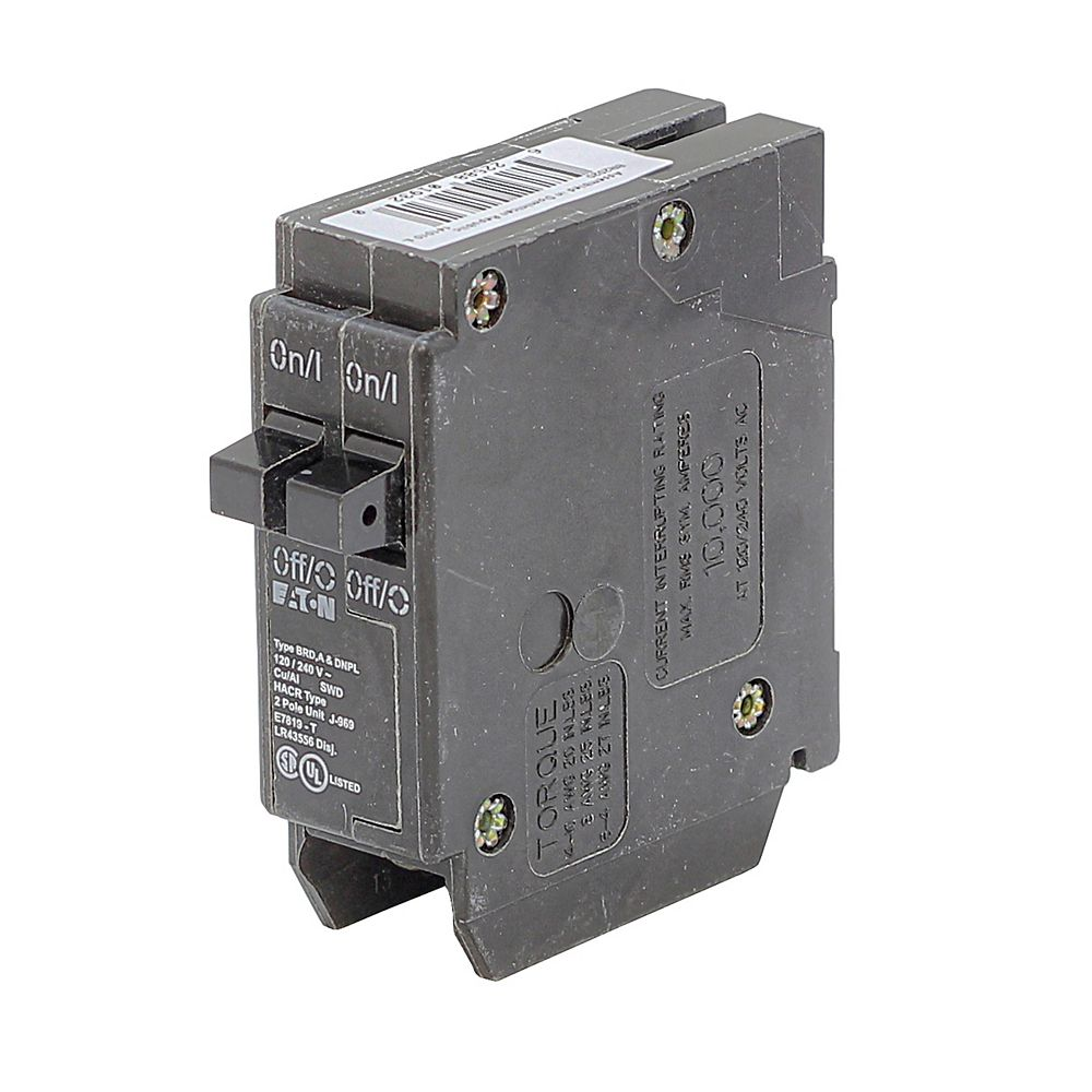 Eaton Space Save Breaker 2-1Pole 20A