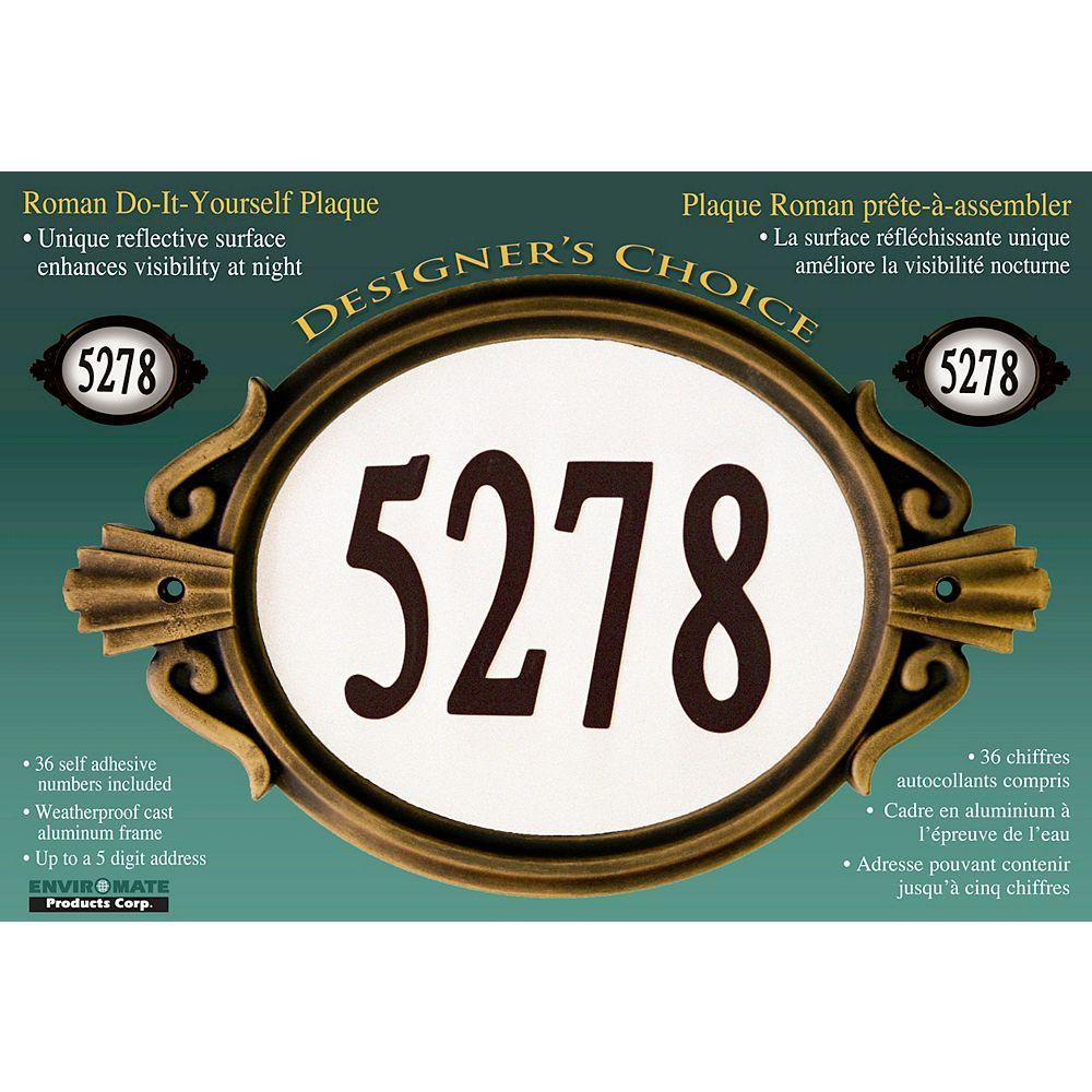 Designer's Choice Roman Bronze Do-It-Yourself Address Plaque Kit