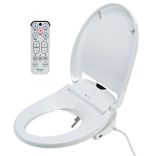 Brondell Round Heated Bidet Toilet Seat in White