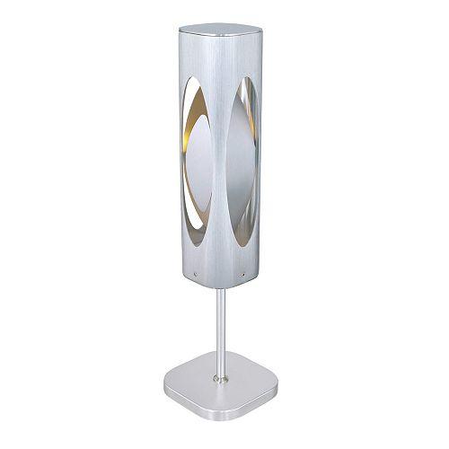 Caiman Lampe de Table, Aluminium Brossé