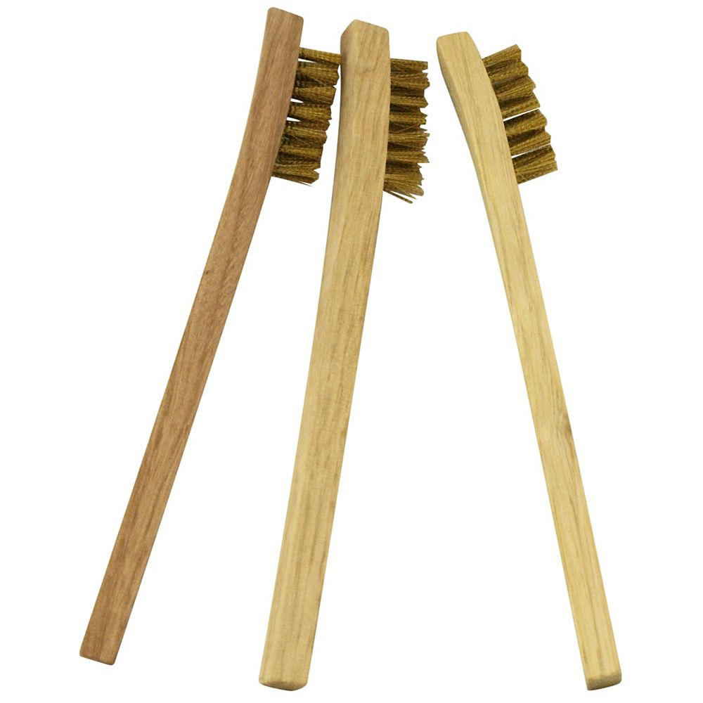 HDG Wood Handle Mini Wire Brush (3-Pack)