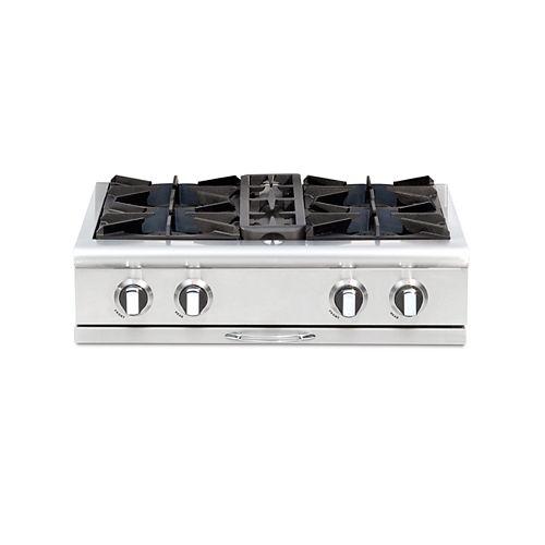 Culinarian Series: 30 Inch 4 Open Top Burners Range Top LP