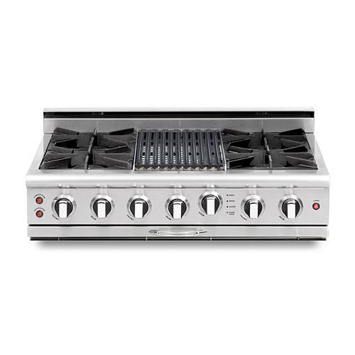 Culinarian Series: 36 Inch 4 Open Top Burners Range Top with Broil Burner LP