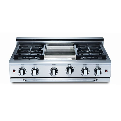 Precision Series: 36 Inch 4 Burners Range Top With Thermo- Griddle, NG