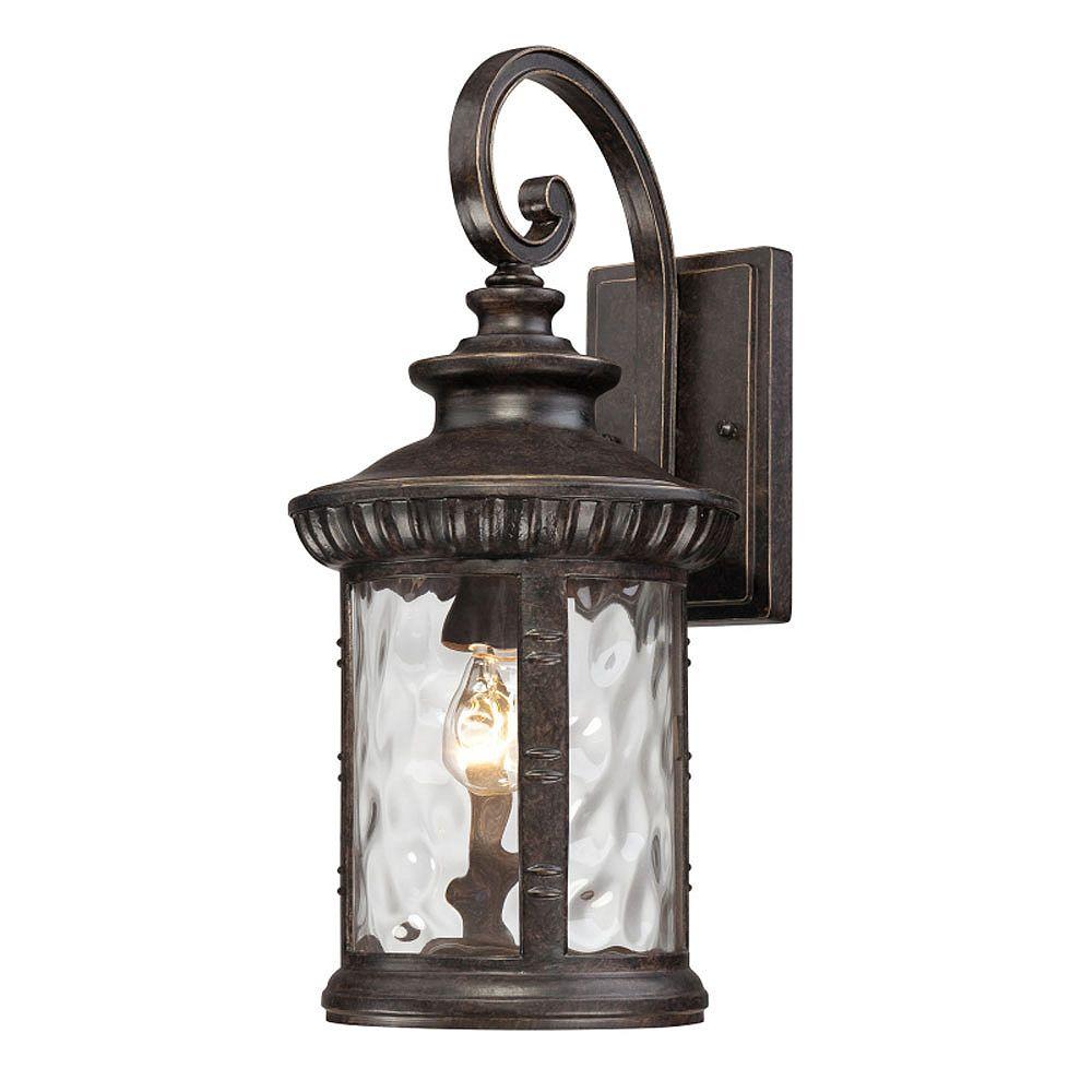 Filament Design Monroe 1-Light Imperial Bronze Outdoor Wall Lantern