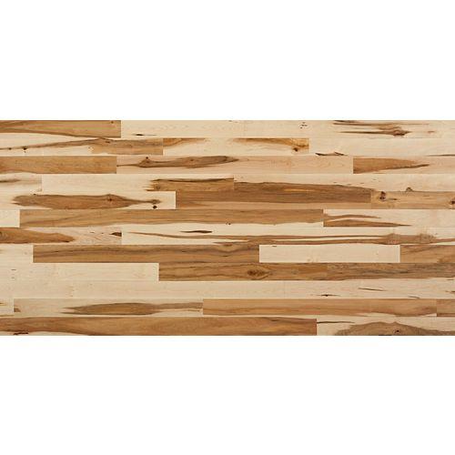 Plancher, bois massif 2X, Érable naturel, 20 pi2/boîte