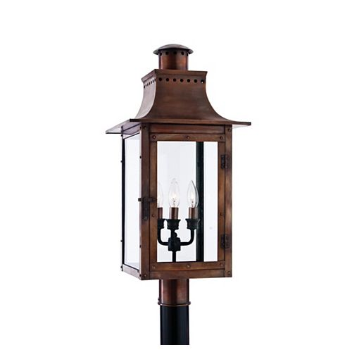 Monroe 3 Lumière Imperial Bronze Incandescent Outdoor Post Lantern