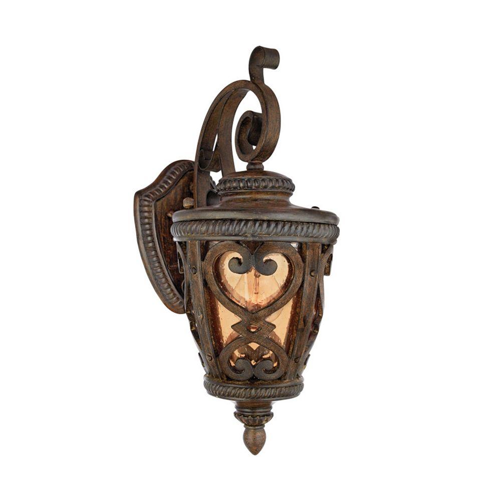 Filament Design Monroe 1 Light Antique Brown Outdoor Incandescent Wall Lantern