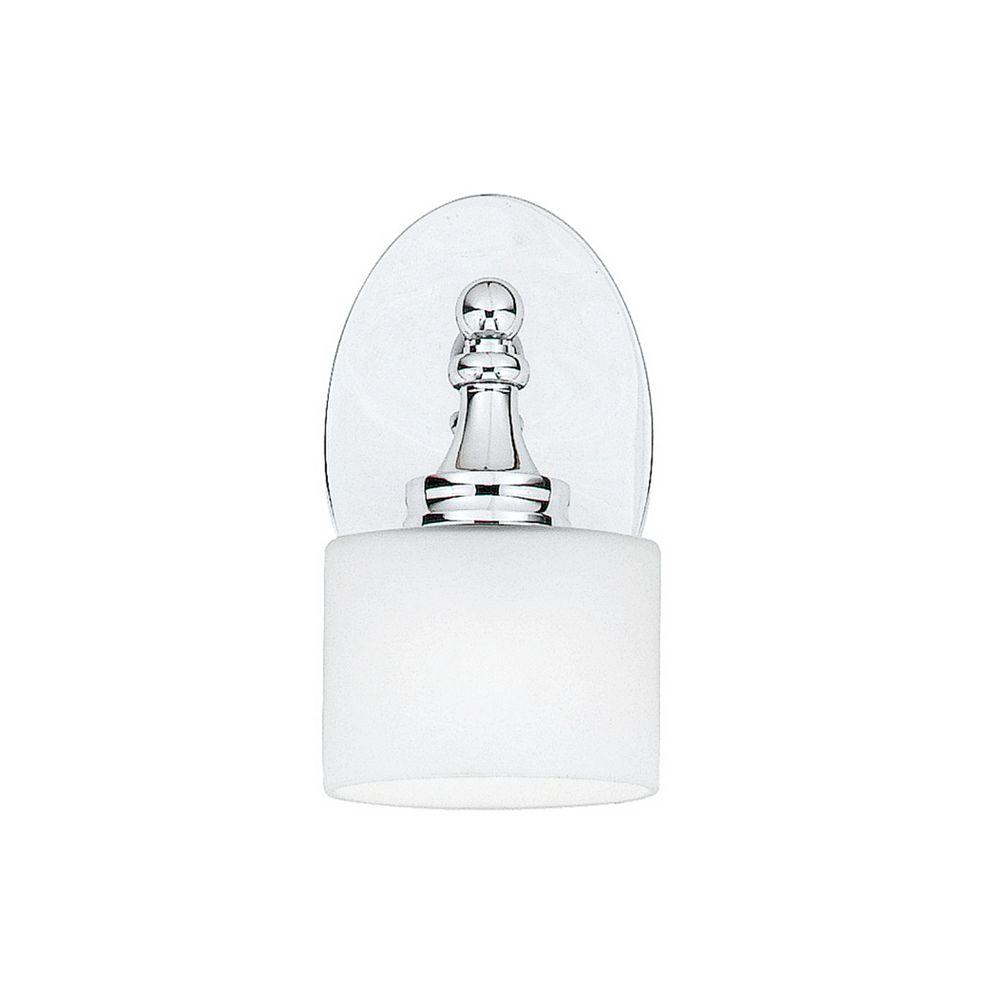 Filament Design Monroe 2 Lumière Vanity incandescence Chrome poli avec un gravé ombre d'Opale