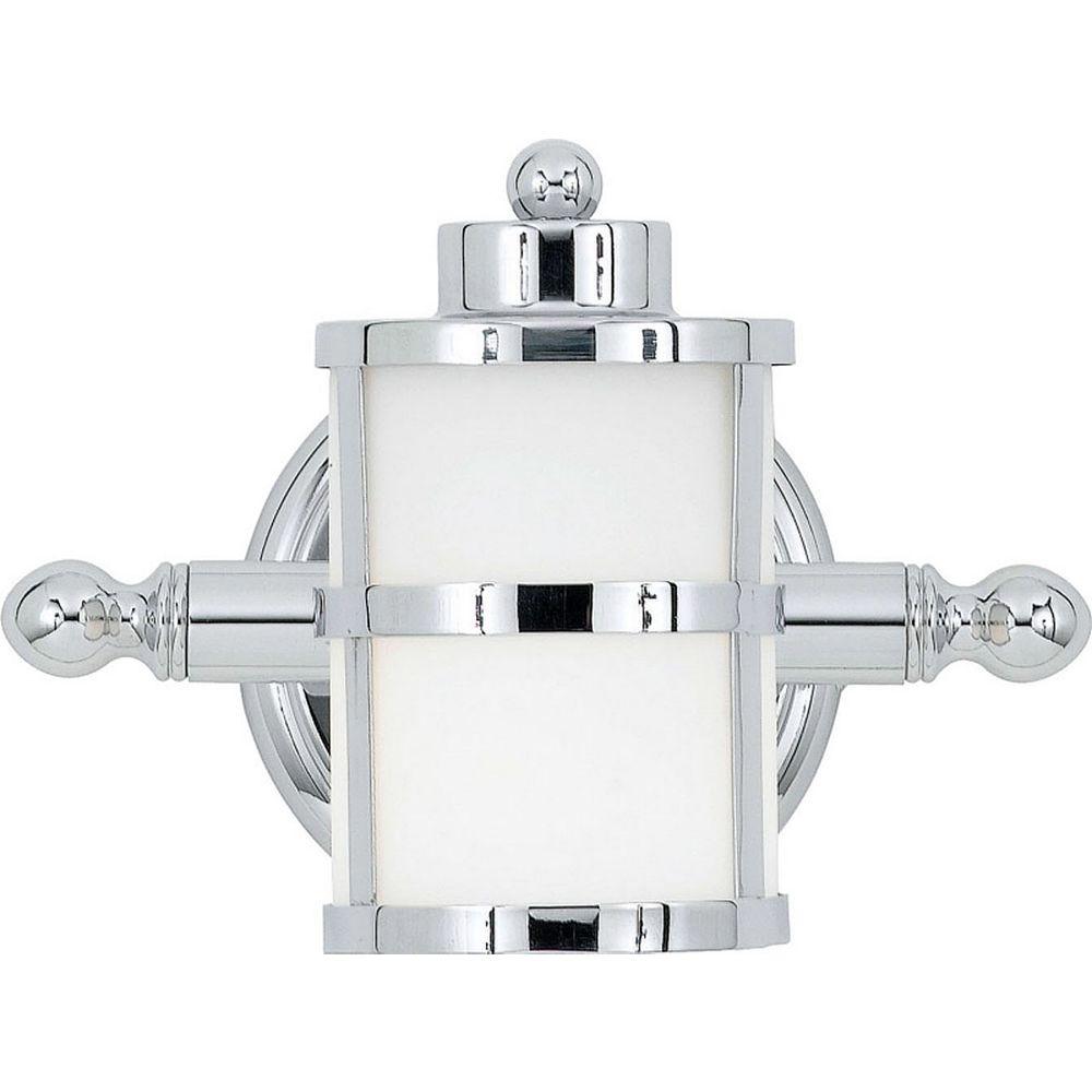 Filament Design Monroe 3 Lumière Vanity incandescence Chrome poli avec un gravé ombre d'Opale