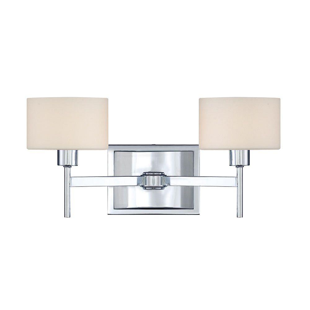 Filament Design Monroe 4 Lumière Vanity poli halogène Chrome avec une gravé ombre d'Opale